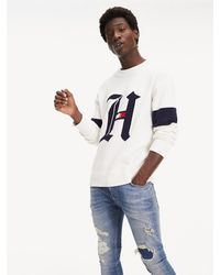 Tommy Hilfiger Lewis Hamilton Oversized Fit Trui - Wit