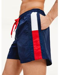 Tommy Hilfiger - Flag Leg Swim Shorts - Lyst