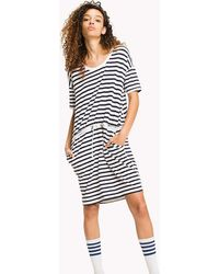 Tommy Hilfiger - Cotton Jersey Stripe Dress - Lyst