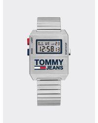 Tommy Hilfiger Montre digitale argentée - Métallisé