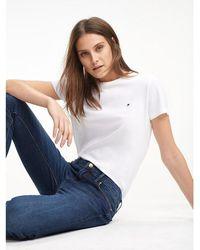 Tommy Hilfiger Heritage T-shirt Met Ronde Hals - Wit