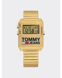Tommy Hilfiger Digitale Edelstahl-Armbanduhr - Mettallic