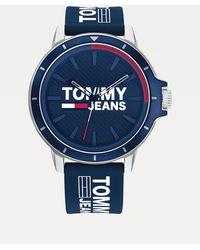Tommy Hilfiger Horloge Met Blauwe Siliconen Band
