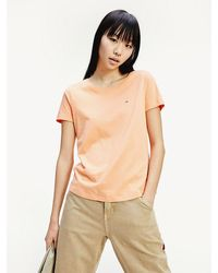 Tommy Hilfiger - Soft Organic Cotton Round Neck T-shirt - Lyst