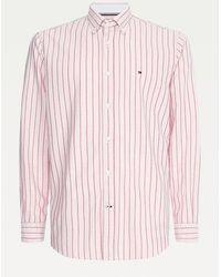 Tommy Hilfiger Oxford-overhemd Van Biologisch Katoen - Roze