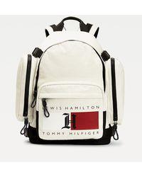 Tommy Hilfiger Lewis Hamilton Laptoprugzak Met Monogrampatch - Wit