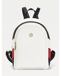 Tommy Hilfiger Th Core Colour-blocked Rugzak - Wit