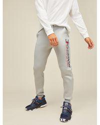 Tommy Hilfiger Logo-Jogginghose aus Fleece - Grau