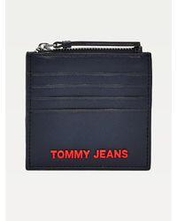 Tommy Hilfiger New Modern Creditcardhouder Met Rits - Blauw