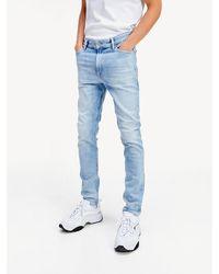 Tommy Hilfiger Simon Skinny Fit Jeans Met Stonewash - Blauw