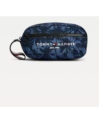 Tommy Hilfiger Th Established Palm Tree Print Washbag - Blue