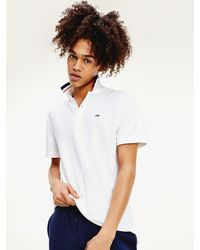 Tommy Hilfiger - Tommy Classic Stretch Cotton Tipped Polo - Lyst