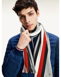 Tommy Hilfiger Signature Sjaal Met Franjes - Grijs