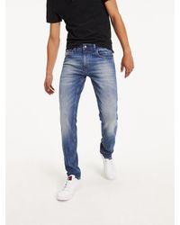 Tommy Hilfiger Original Denim Jeans Met Toelopende Pijpen - Blauw