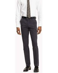 Tommy Hilfiger - Cotton Twill Trousers - Lyst