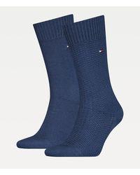Tommy Hilfiger Set Van 2 Paar Sokken Van Stretchkatoenmix - Blauw