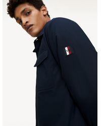 Tommy Hilfiger Th Flex Gewatteerd Overhemd - Blauw