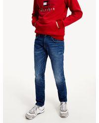 Tommy Hilfiger Bleecker Slim Fit Distressed Jeans - Blauw