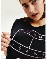 Tommy Hilfiger - Metallic Logo T-shirt - Lyst
