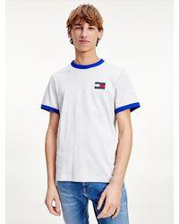 Tommy Hilfiger - T-shirt Met Contrasterende Badge - Lyst