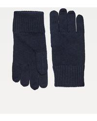 Tommy Hilfiger Handschoenen Van Pima-katoenmix Met Geborduurde Vlag - Blauw
