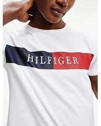 Tommy Hilfiger - Intarsia Logo Regular Fit T-shirt - Lyst
