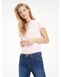 Tommy Hilfiger Heritage Slim Fit Polo Shirt - Pink