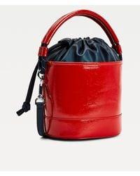 Tommy Hilfiger Rope Detail Crinkle Bucket Bag - Red