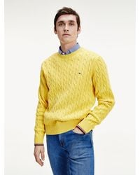 Tommy Hilfiger - Organic Cotton Cable Knit Jumper - Lyst