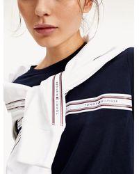Tommy Hilfiger - Lifestyle Logo Tape Organic Cotton T-shirt - Lyst
