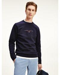 Tommy Hilfiger Essential Sweatshirt Van Biologisch Katoen - Blauw