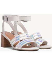 956f6b2c354 Missguided Cleated Chunky Flatform Sandals Iridescent Teal in Blue ...