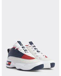 Tommy Hilfiger Heritage Asymmetrische Sneaker - Wit