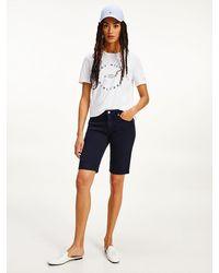 Tommy Hilfiger Venice Slim Bermuda-Shorts mit mittelhohem Bund - Blau