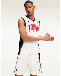 Tommy Hilfiger Vochtafvoerende Basketbaltanktop - Wit