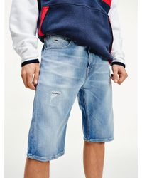 Tommy Hilfiger - Stretch Cotton Relaxed Fit Denim Shorts - Lyst