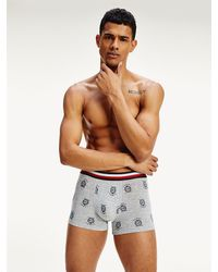 Tommy Hilfiger Th Cool Boxershort Met Signature-tailleband - Grijs