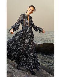 Tommy Hilfiger Americana Print Maxi Dress - Black