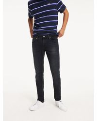Tommy Hilfiger Slim Fit Jeans Met Donkere Wassing - Blauw