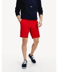 Tommy Hilfiger Leichtgewichtige Shorts aus Baumwoll-Twill - Rot