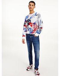 Tommy Hilfiger Scanton Slim Jeans Met Fading - Blauw