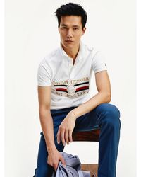 Tommy Hilfiger - Icons Nautical Embroidery Slim Fit Polo - Lyst