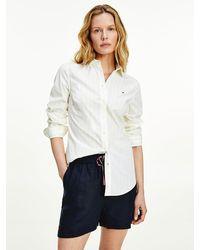 Tommy Hilfiger Organic Cotton Stripe Shirt - White