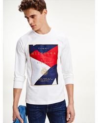 Tommy Hilfiger Tommy Icons T-shirt Met Lange Mouwen - Wit
