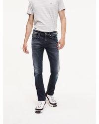Tommy Hilfiger Slim Fit Jeans im Dark-Wash - Blau