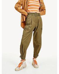 Tommy Hilfiger Pantalon Met Gespen En Ceintuur - Groen