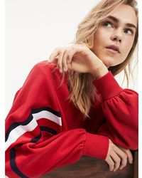 Tommy Hilfiger Colour-blocked Sweatshirt Met Ronde Hals - Rood