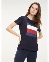 Tommy Hilfiger - Organic Cotton Colour-blocked T-shirt - Lyst