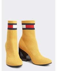 Tommy Hilfiger - Flag Heeled Sock Boots - Lyst