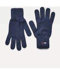 Tommy Hilfiger Essential Handschuhe aus Bio-Baumwolle - Blau